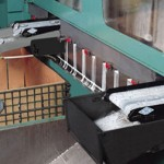 Pax low profile conveyors for under die slug removal