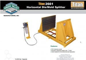 GVTitan2661HorzDie-MoldSplitter