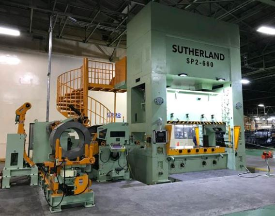 PRI Swift Pages Sutherland 660 Ton Press