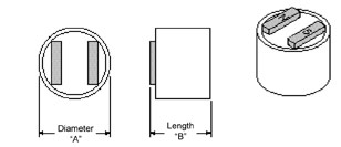 2 Pole Holding Magnets diagram