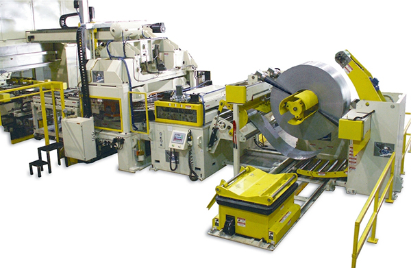 Coe Transfer Press Coil Handling and Blank Feed System