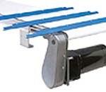 Flush motor mount designs for wide part handling