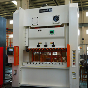 Sutherland HDP Series mechanical stamping press with a 121-1200 ton unitized or tie rod frame