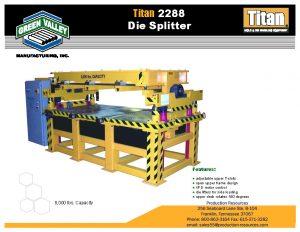 GVTitan2288HorzDie-Mold Splitter