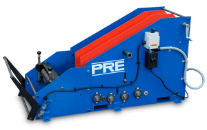 "PRE Heavy-Duty Coil Cradle Straightener combinations handle coil widths to 60"" and material thickness to .300"". Standard coil weight capacities are 6,000, 10,000, and 20,000 lb."